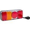Multifunction rear LH light LED, rectangular, 12-24V, 200.5x85x40mm, 5-pin, Kramp