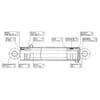 Dvojčinný valec 3371790 vhodný pre Stoll Robust-F 35HDP / 36HDP
