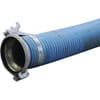 """PVC zuig- en persslang blauw/rood 6"""" compleet met KKM/KKV koppelingen Bazzoli"""