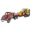 U02813 Mack Granite Tieflader mit Bulldozer