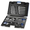 """E032911 case with 101 socket wrenches and accessories 1/4"""" + 1/2"""""""