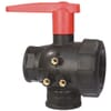 3-way ball valve, series 453 with female thread and extended handle<br/>- with interrupted or continuous flow