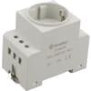Mains socket DIN rail mounting Finder
