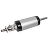 Pneumatic cylinder with piston rod