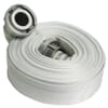 Fire hose flat rollable with coupling, synthetic white