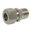 Stainless steel male stud coupling GEV..LLMK..RVS