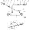 07 Vérin hydraulique pour réglage de largeur du premier sillon SRT, SRS