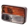 Signal light rectangular, 12V, amber/transparent, bolt on, 120x56x80mm, Cobo
