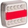 Rear light LED, 1W, square, 12V, 106x100x98mm, 5-pin, 18 LED's, gopart