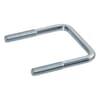 U-bracket square, metric ST 37 zinc-plated