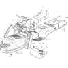 Karosserie für Castelgarden TCP - 102-122 / 102-122 Hydro - Bj. 2002