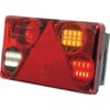 Multifunction rear RH light LED, rectangular, 12-24V, 232x142x59mm, Kramp