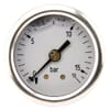 Pressure gauge rear connection, 40 mm, stainless steel, filled with glycerine