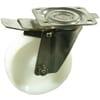 Lenkrollen - V2A - mit Kunststoffrad, Bremse und Gleitlager