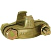 Safety claw coupling with hose clamps