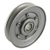 Idler pulley V-shape