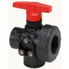 GEOline 3-way ball valve with inner thread, panel mounting, T-bore