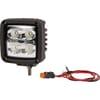 Work light LED, 40W, 4500lm, square, white, 98x74.5x101mm Deutsch plug, Wide flood, 4 LED's, Kramp
