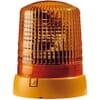 Rotating beacon Halogen, round, 12V, amber, housing: yellow, bolt on, Ø 155mm x194mm, KL 7000 by Hella