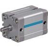 DW compactcilinder DIN ISO 21287 met buitendraad en magneet - boring Ø16mm