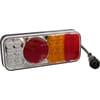 Multifunction rear RH light LED, rectangular, 12-24V, 200.5x85x40mm, 5-pin, Kramp