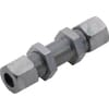 Bulkhead coupling with nuts GSV