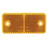 Square reflector, amber, screw-on, Hella