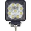 Work light LED, 27W, 2160lm, square, 10-110V, 110x55x110mm, Flood, 9 LED's, gopart