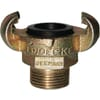 Claw couplings with outer thread