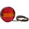 Multifunction rear light LED, round, 24V(integrated resistance), Ø 142mm, Kramp