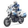 U62731 Police officer with Scrambler Ducati police motorcycle