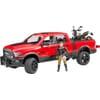 U02502 RAM 2500 PowerWagon mit Scrambler Ducati und Fahrer