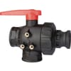 3-way ball valve, series 453 with cam-lock adaptor