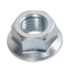 DIN 6923 hexagonal flange nuts, metric class 10 zinc-plated