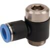 Insteekkoppeling L - cilindrische buitendraad en binnenzeskant, zwenkbaar - type BCS..PB