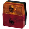 Rear light square, 12V, red/orange, bolt on, 98x51x103mm, 5-pin, Hella