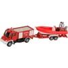 S01636 Unimog camion de pompiers avec bateau