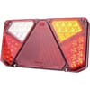 Multifunction rear light LED, rectangular, 12-24V, 242x134x36.5mm, 7-pin, Kramp