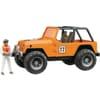 U02541 Jeep orange with driver