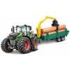 Fendt 1000 Vario tractor met houttrailer