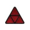 Reflector driehoekig rood Hella