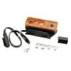 Marker light LED, rectangular, 12/24V, orange, bolt on, 104x32x40mm