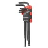 83H.JU10 hex pin wrench sets, in bag, long, metric