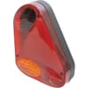 Rear light triangular, amber/red, bolt on, 57x219mm, Sacex