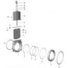 """MZ double flanged knives 4"""" spare Parts (art.0080)"""