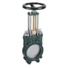 """MZ Metal knife valve with hand Wheel - Cast iron - with discharge (4""""+ 5""""+ 6""""+ 8"""")"""