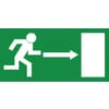 Safety signs, Emergency exit right