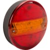 Multifunction rear light LED, round, 12-24V, Ø 142mm, 5-pin, Kramp