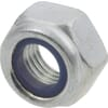 Hexagon locknut DIN985 M10x1.50 steel zinc-plated Class 8 Kramp