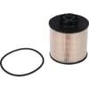 Fuel filter element metal-free